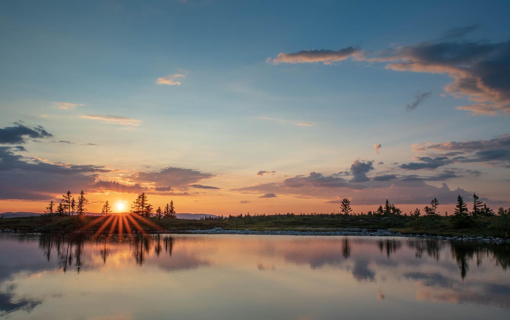 Solnedgang Hemmelfjellet