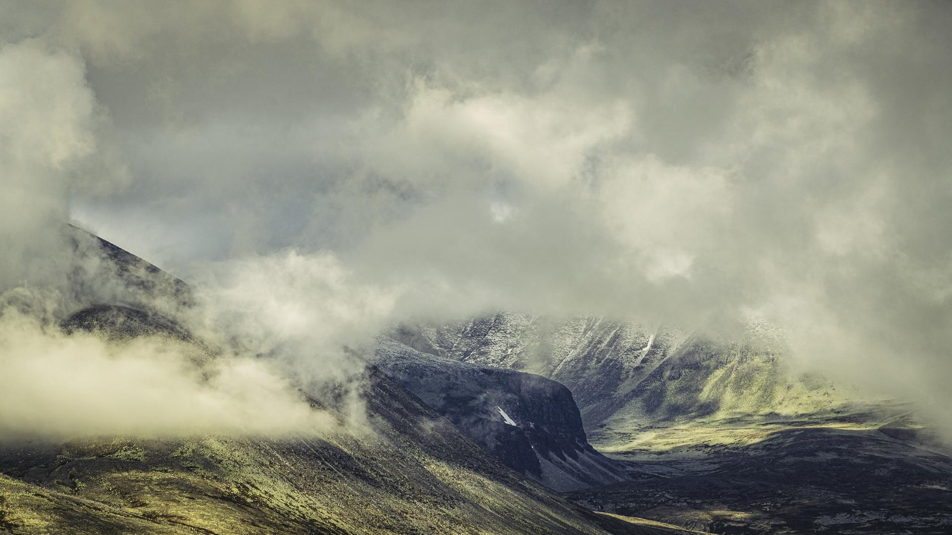 Rondane med skyer